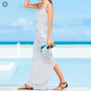 VICTORIA'S SECRET MAXI TANK DRESS WHITE STRIPED M